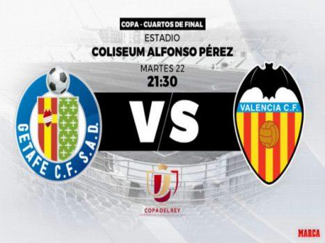 Dự đoán Getafe vs Valencia, 03h30 ngày 23/1