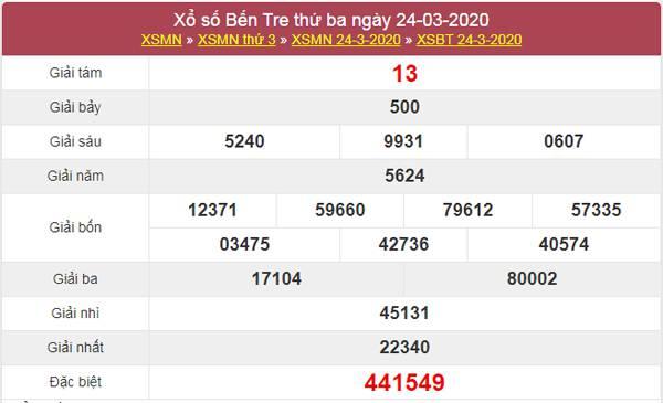 Dự đoán KQXS Bến Tre 31/3/2020 - Dự đoán XSBTR thứ 3