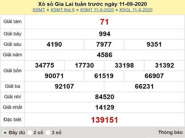 Dự đoán KQXSGL ngày 18/09- dự đoán xổ số gia lai thứ 6