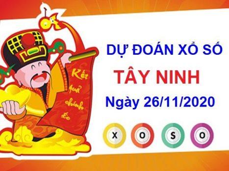 Dự đoán XSTN ngày 26/11/2020 chốt đầu đuôi giải đặc biệt Tây Ninh thứ 5