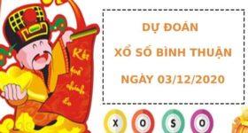 Dự đoán kết quả XS Bình Thuận Vip ngày 03/12/2020