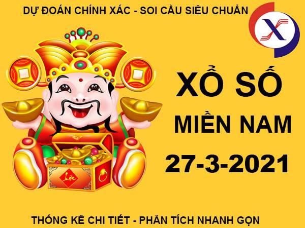 Dự đoán KQSX Miền Nam thứ 7 ngày 27/3/2021