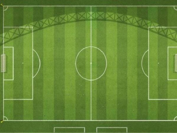 Vì sao sân bóng đá luôn có hai màu cỏ khác nhau